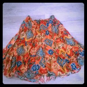Southwest print maxi skirt